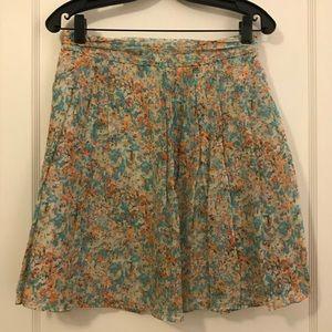 J crew water color silk skirt